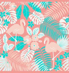 Tropic seamless pattern vector