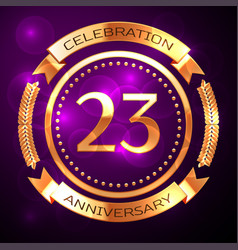 Twenty three years anniversary celebration with vector