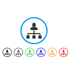 user hierarchy rounded icon vector image