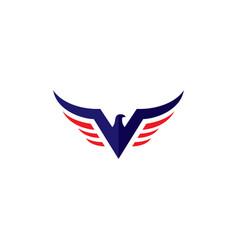 v eagle logo for military design vector image