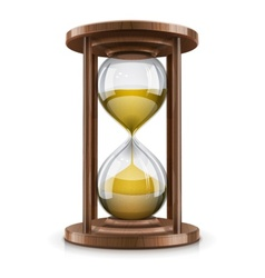 vintage hourglass in wooden vector image
