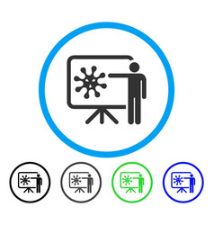 Virus lecture rounded icon vector
