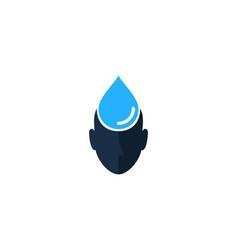 water human head logo icon design vector image