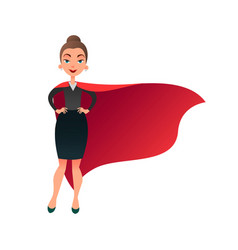 Woman superhero cartoon character wonder woman vector