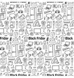 Black friday household seamless pattern vector