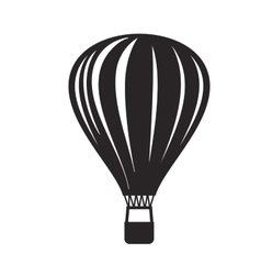 black Hot air balloon vector image vector image
