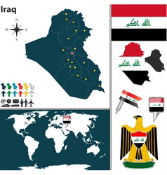 Iraq map world vector
