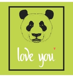 Love you Valentines day template vector image