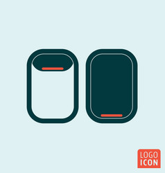 porthole icon isolated vector image