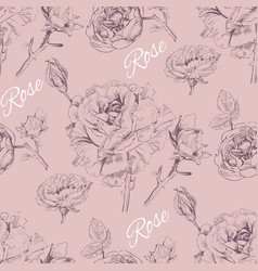 Rose pattern 2 vector image
