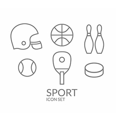Sport Icon set Outline vector image