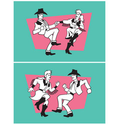 country dancers design vector image vector image