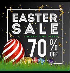 easter sale special discount background banner vector image