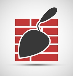 icons brickwork and building trowel vector image vector image