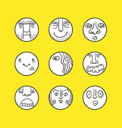 set of emoji vector image