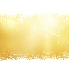 Abstract background with stars snowfall and light vector image vector image