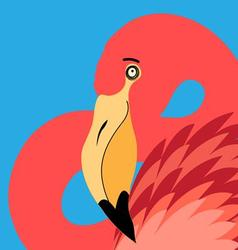 beautiful portrait of a flamingo vector image