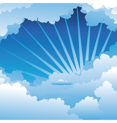 Blue Sky with Clouds3 vector image