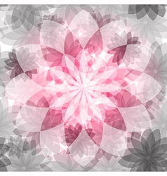 Pink-gray floral seamless pattern vector image vector image