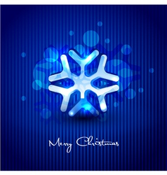 snow flake design vector image vector image