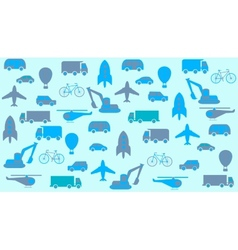 transport seamless background vector image vector image