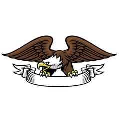 eagle mascot grip the ribbon vector image