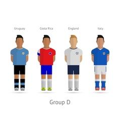 Football teams Group D - Uruguay Costa Rica vector image vector image