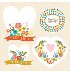 set of holiday graphic elements vector image vector image
