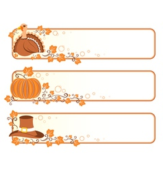 Thanksgiving banners vector image vector image