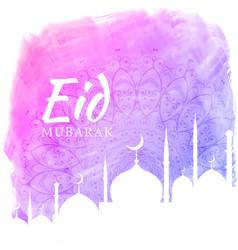 watercolor background for eid festival season vector image vector image