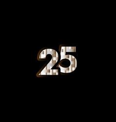 25 years anniversary celebration elegant black vector