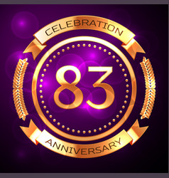 82 82th eighty two years anniversary celebration vector image
