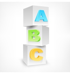 ABC blocks color vector