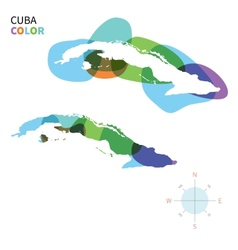 Abstract color map of Cuba vector image