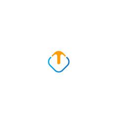 arrow up business logo vector image