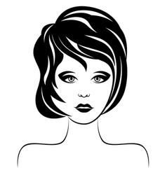 beautiful serious woman vector image