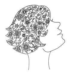 beauty zen tangle woman vector image