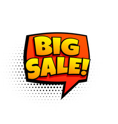 big sale marketing template in comic style vector image