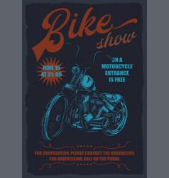 Bike show vector