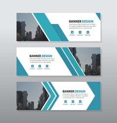 Blue triangle abstract corporate business banner vector image