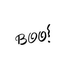 boo ink hand lettering modern brush calligraphy vector image
