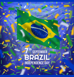 brazilian independence day card vector image