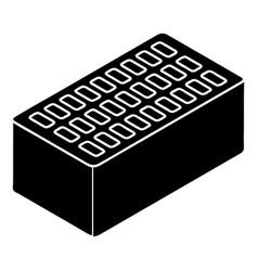 brick icon simple style vector image