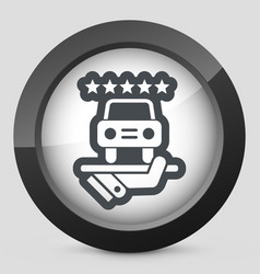 Car luxury services icon vector