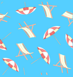 cartoon beach travel resort concept umbrella and vector image
