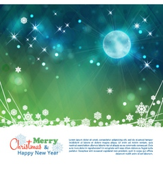Christmas abstract moon stars background vector