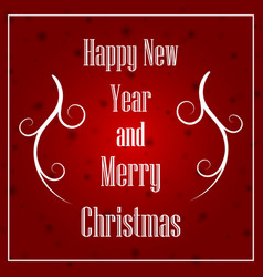 christmas and new year typographical on xmas vector image