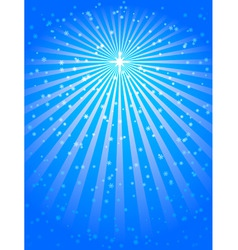 Christmas star blue vector background vector