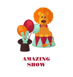 circus show only tonight promotional poster vector image
