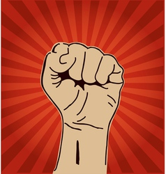 Clenched fist held high vector image